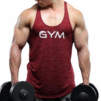 Gyms Clothing Fitness Men Top hooded workout Singlet Sleeveless Shirt