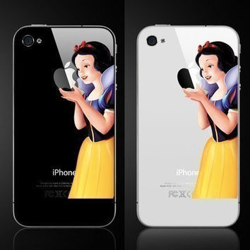 Snow white Iphone decal Iphone sticker Iphone 4 Iphone 4s decal sticker