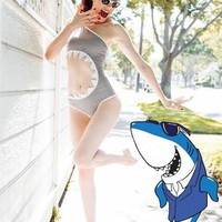 Fins Up Shark Bite Monokini If You Dare