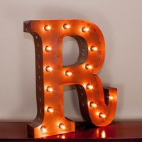 "24"" Letter R Lighted Vintage Marquee Letters with Screw-on Sockets"