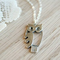 The Curious Owl Sterling Silver Necklace by TwoLittleDoves