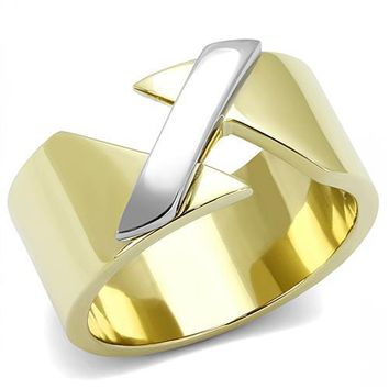 Two-Tone Stainless Steel X Ring