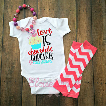 baby girl valentines outfit, valentine shirts, valentines day shirt, valentine baby shower gift, cupcake shirts, toddler girl outfits, gifts