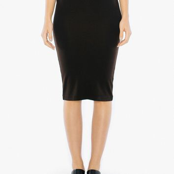 Ponte Mid-Length Pencil Skirt | American Apparel