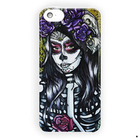 Floral Sugar Skull Day Of The Dead For iPhone 5 / 5S / 5C Case