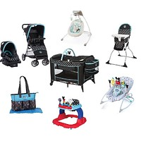 Disney Mickey Complete Baby Gear Bundle,Travel System,Playard,Swing & Diaper Bag