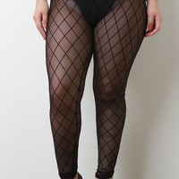 Plus Size Diamond Leggings