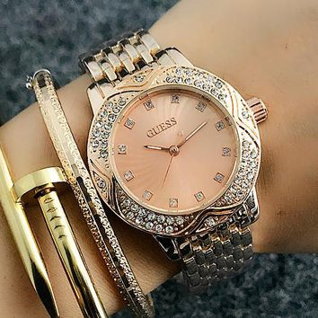 GUESS Women Fashion Quartz Movement Wristwatch Watch