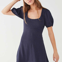 UO Puff-Sleeve Mini Dress   Urban Outfitters