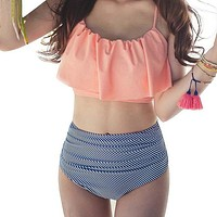 High Waisted 2 Piece Bathing Suit