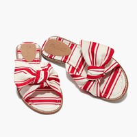 The Naida Half-Bow Sandal in Marcia Stripe