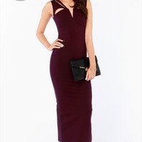 LULUS Exclusive Earth Angel Cutout Burgundy Maxi Dress