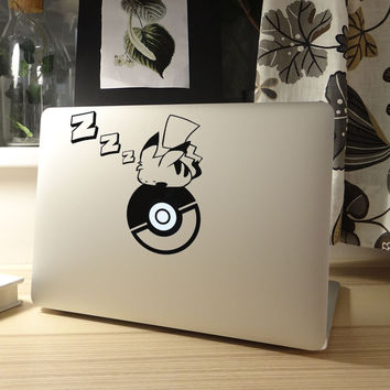 "Sleeping Pikapika Anime Laptop Sticker for Apple Macbook Pro Air Retina 11"" 12"" 13"" 15""  Mac Mi Notebook Case Skin Laptop Decal"