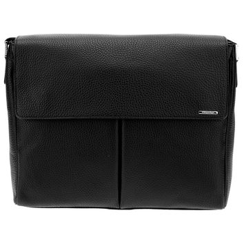 Ermenegildo Zegna Classic Leather Messenger Bag