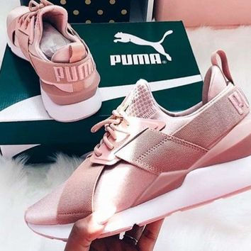 Puma Muse Satin EP Women Sneakers Sport Shoes Pink