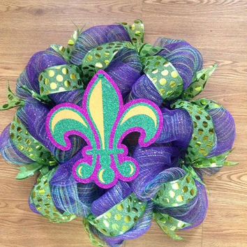 SALE30%off MardiGras Wreath Home Decor
