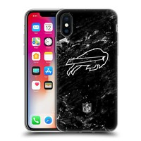 Official NFL Marble 2017/18 Buffalo Bills Soft Gel Case for Apple iPhone X