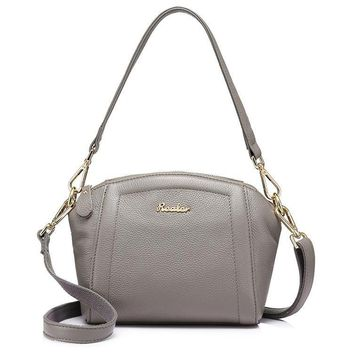 fashion women genuine leather bag female shoulder handbag hign quality crossbody bag Taro Purple Gray/Red/Black