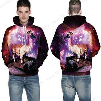 Dreaming Antelope Queen Hoody Sweatshirts Rose Red Psychedelic Star Skateboarding Hoodies Autumn Long-Sleeved Men Tracksuits