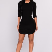 Trudy Ribbed Tunic - Black