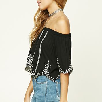 Off-the-Shoulder Scalloped Top