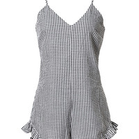 Gingham Ruffled Romper
