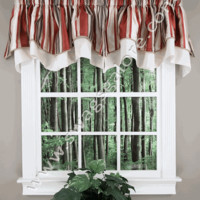 Maxton Scalloped Valance – Stone – RHF - Kitchen Valances