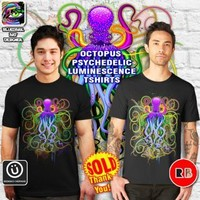 """""""Octopus Psychedelic Luminescence"""" T-Shirts SOLD! Thank You!"""