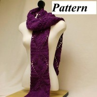 Pattern pdf Easy Scarf Pineapple Crochet Lace How To Warm Fashion Wrap ok to sell