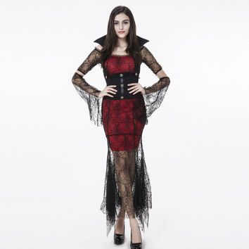 VampireHalloween Costume Black Witch Prom Dress [9220884996]