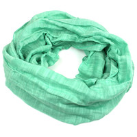 'Lucille' Infinity Scarf in Sea Green - The Faire Collection