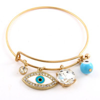 Protect Me Bangle Bracelet - Gold or Silver