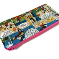 Mickey and Minnie Mouse Cartoon Colorful Zippered Pouch - Zippered Wallet - Comics Wallet - Mickey Pencil Case - Small Cosmetic Bag