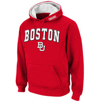 Boston University Stadium Athletic Arch & Logo Pullover Hoodie - Scarlet