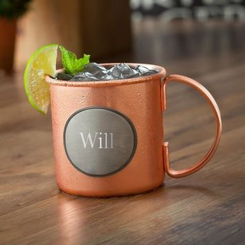 Moscow Mule Copper Mug – 16 oz Stainless Steel Mug with Copper Plating Personalized Free