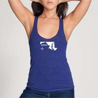 Maryland State Tank Top - Womens  American Apparel Tank Racerback  - S M L (6 Colors Available)