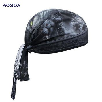 AOGDA Biker cycling bandana pirates scarf headsweats dress hats cycling head wear cap CC3538