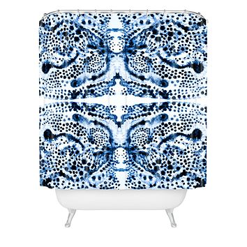 Elisabeth Fredriksson Symmetric Dream Blue Shower Curtain
