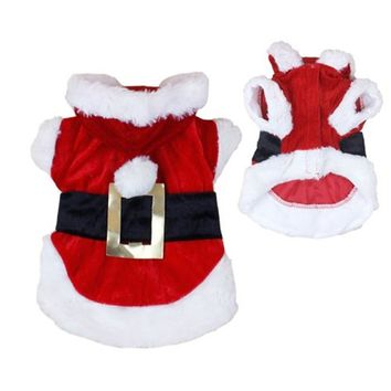 Christmas Clothes for Pet Dog Chihuahua Yorkshire Winter Dog Clothing Poodle Puppy Hoodie Coat Costume Classic XS S M L 30