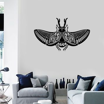 Vinyl Wall Decal Scarab Ancient Egypt Egyptian Decor Home Room Art Stickers Mural (ig5646)