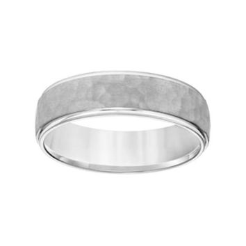 CREY7GX Simply Vera Vera Wang 14k White Gold Men's Wedding Band | null