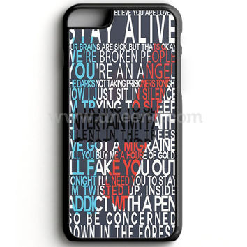 Twenty One Pilot Lyrics iPhone 7 Case  | Aneend.com