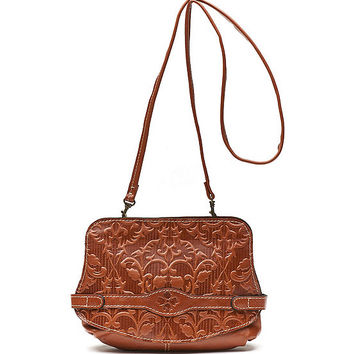 Patricia Nash Italian Folklore Vada Frame Embossed Cross-Body Bag | Dillards