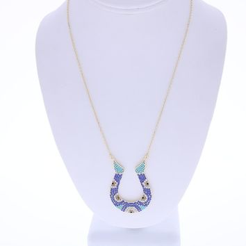 Horseshoe Design Pendant Necklace