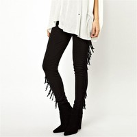Magic Pieces High Waist Leggings with Tassels Detail 051362 C0529