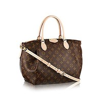 LV  Women Shopping Leather Best Seller formal Authentic Louis Vuitton Monogram Canvas Turenne MM Tote Bag Handbag Article: M48814 Made in France