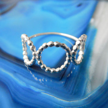 Triple Circle Sterling Silver Ring