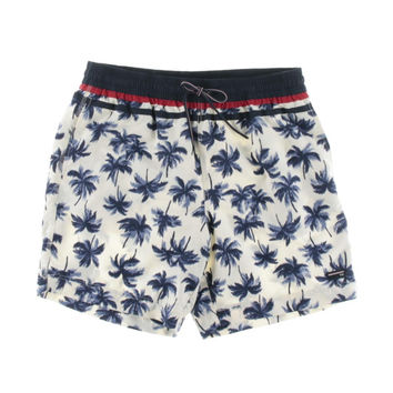 Tommy Hilfiger Mens Printed Lined Swim Trunks