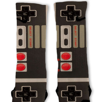 Nintendo Controllers Customized Nike Elite Socks
