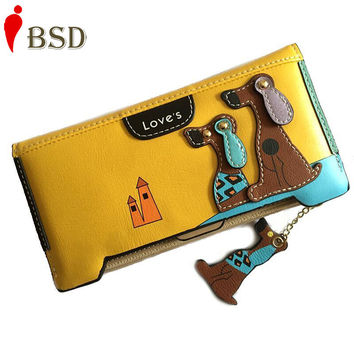 Women wallets 2016 card holder womens wallets and purses leather wallet women luxury brand designer clutch fashion travel long